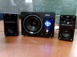 Mecer 2.1 CH Black Amplified Speakers W/MP3 PLAYER