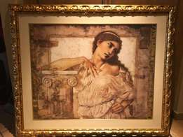Picture of Greek lady with beautful frame
