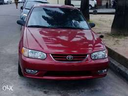 Sharp 2001 Toyota Corolla S Tokunbo with automatic windows