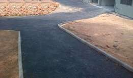 Hot smooth tar surfaces/driveways & parking areas