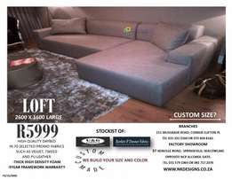 Daybed with 2 seater sofa