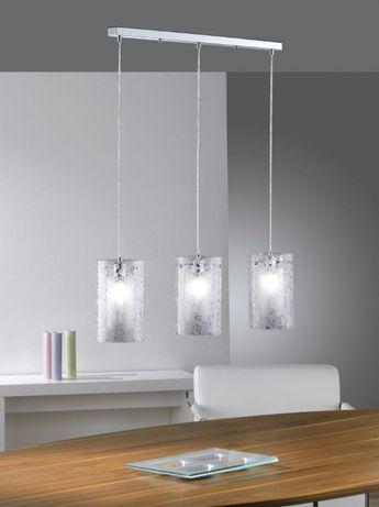 Lampa Sufitowa Zwis Nad Stół Jadalnia Szkło Paul Neuhaus
