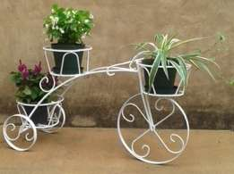 Tri-cycle pot plant stand