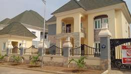 A brand new five bedrooms fully detached duplex. For sale