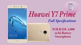 Huawei Y7 prime 3gb ram 32gb internal brand new sealed