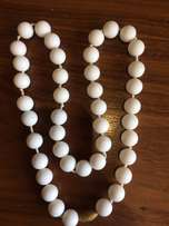 Silicon teething beads - white - for mum to wear