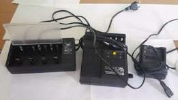 3 rechargable nicad battery charger units all in good working order