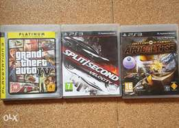3 PS3 Cds Split second velocity, Motor storm and Grand Theft 4