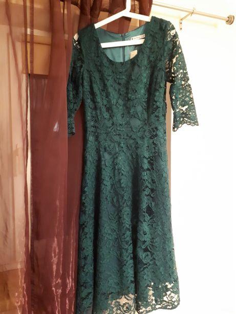 4fc532c23b Nowa koronkowa zielona sukienka midi de facto r. 38 Sokółka - image 1