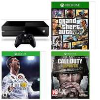 UK used Xboxone 500gb + 9 games installed