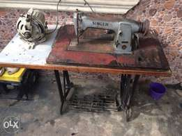 fairly used industrial Singer leather machine