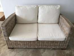 Two 2 Seater Wicker Couches - GREAT VALUE