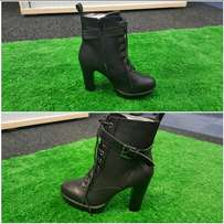 Black funky an sassy heels for sale.. Limited