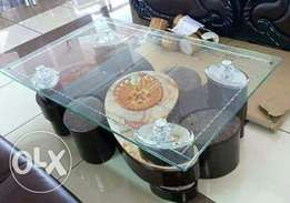 Tampered Glass Top-Stylish Coffee Table