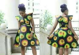 circular fitting kitenge dress