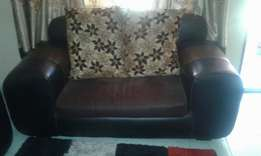 5 seater Leather Majlis plus centre stable
