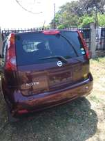 Nissan note KCM red wine colour in thika town yom 2010 low mileage