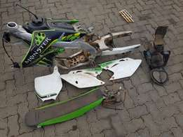 KX450F 2007 Stripping for spares ONLY.