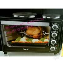 Saachi oven with 2 hotplates and rotisserie function