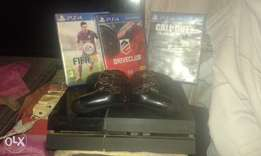 ps4 2 shock controles and 3 games with tv cabules for only R3500