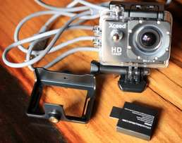 Xceed action camera. Full HD gopro alternative