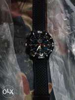 Imported Black Rubber wristwatch