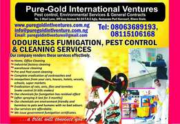 odourless fumigation,pest control and cleaning services