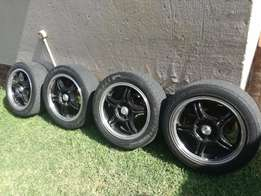 15 Inch Mag Rims and Tyre's (195/50/16) for Sale