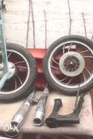 Bike parts for sale.