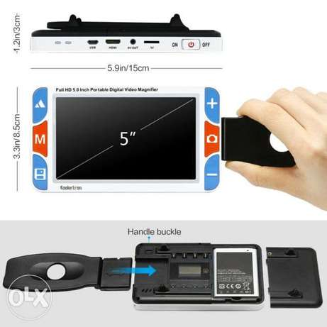 Portable Digital Magnifier 5.0-inch LCD 4X-32X Electronic Reading