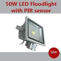 LED Floodlight 50 Watts that has an inbuilt motion activated sensor