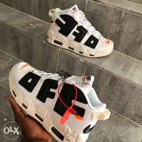 Nike air more uptempo off white sneakers