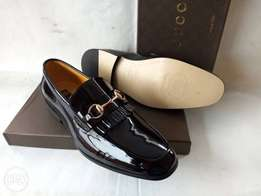 Patent black Gucci firing loafers shoes