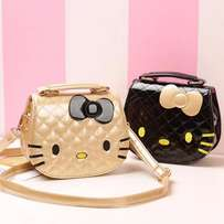 Girls bags cute hello kitty golden color handbags