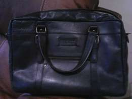 Busby genuine leather laptop carry bag