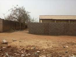 Fenced 2bedroom bungalow flat for sale around Saleem academy FHA Lugbe