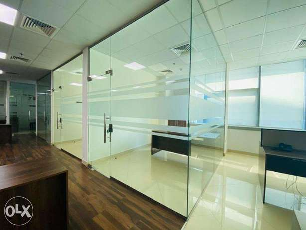 300 sqm Partition office space Airport road Rent 21,000 QR only المطار القديم -  3