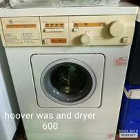 Hoover washing machine and dryer