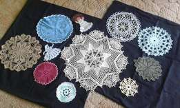 Small Doilies, Cloths & Cushion.