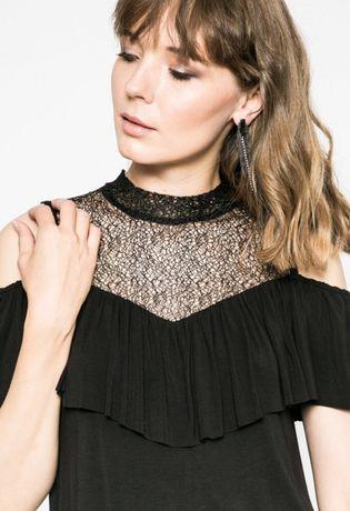 dostępny ponadczasowy design wylot Bluzka hiszpanka koronka półgolf elegancka falbanka odkryte ...
