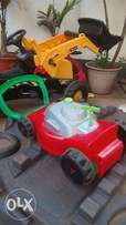 "Toy lawnmower ""cutting grass machine"""