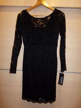 8a317cf0c3 NOWA! Sukienka SWING wieczorowa czarna koronka Asos Zara Chi Chi H M Rybnik  - image 1
