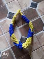 Yellow and blue beads