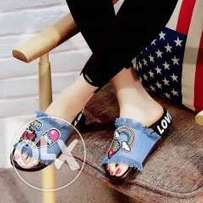 Ladies_Denim_Cute_Slide
