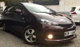toyota wish 2010 KCM loaded edition wine red at 1,350,000/= o.n.o