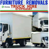 Truck for Hire-4ton Closed Body *Office & Home Removals