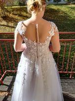 0959bbd67a Piękna i wygodna suknia slubna rozm. 38 40 dorzucę welon