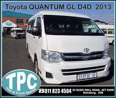 Toyota QUANTUM GL D4D -2013 - 10 Seater - Low Roof for SALE at TPC