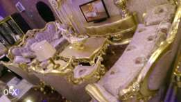 Gold turkey royal chair with dining set by eight