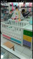 Multicolored baby cot